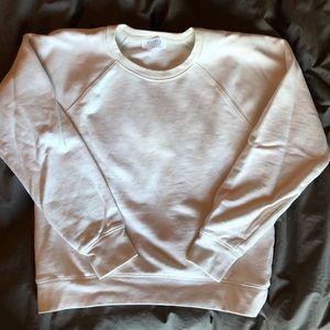 Off white cropped Everlane Crew Sweatshirt